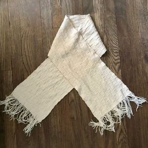Cozy, Cute, & Warm - Beige/Creme knitted scarf!